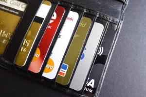 kredietkaarten in portefeuille